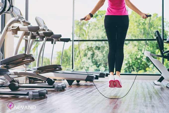 طناب زدن یک نوع ورزش هوازی