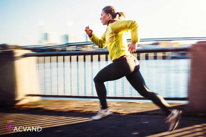 دویدن یک نوع ورزش ایروبیک