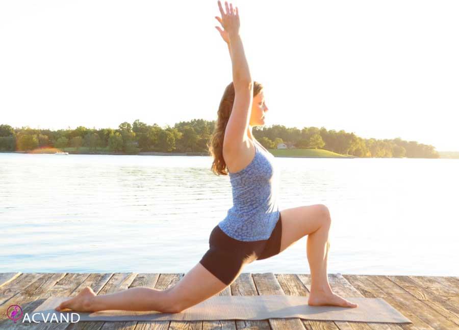 حرکت جهش هلالی یوگا