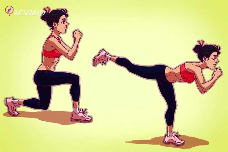 لاغری سریع ران پا با ورزش