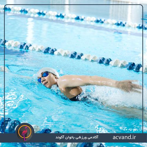 ورزش شنا و نکات تغذیه ای برای لاغری