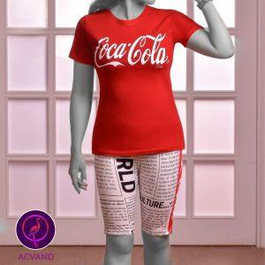 تیشرت و شلوارک کوکاکولا