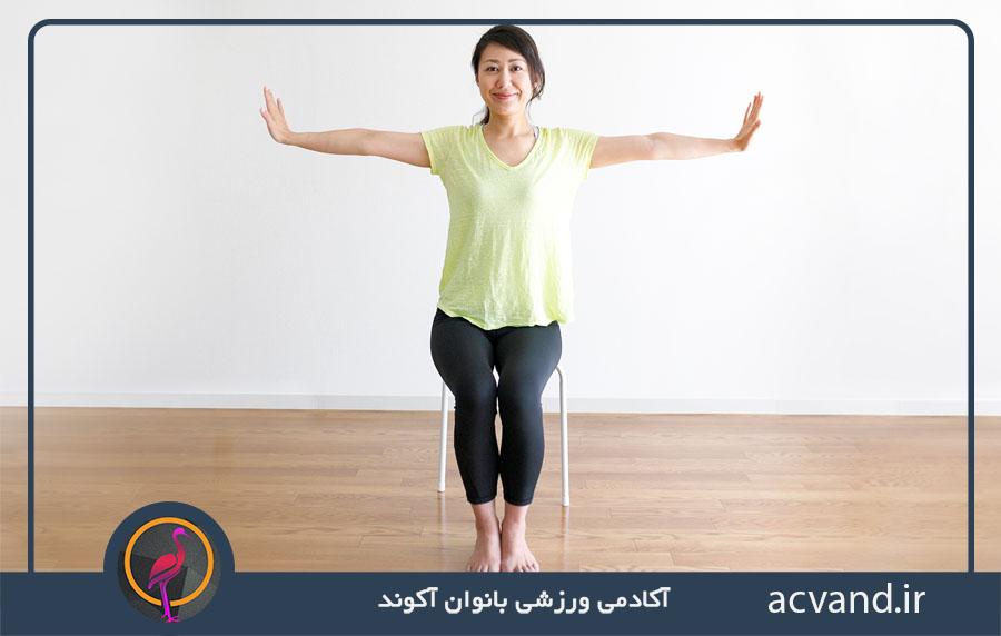 تمرین در خانه با  صندلی