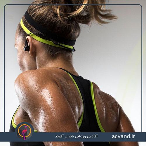 عرق کردن هنگام ورزش