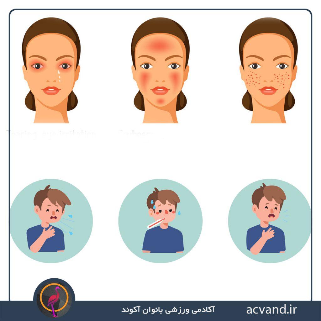 علائم ویروس کرونا و آلرژی