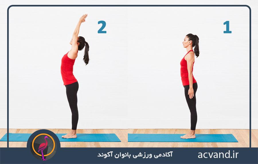 حرکت دستان کشیده در یوگا