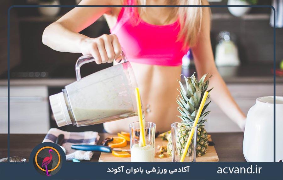 برنامه غذایی و تمرینی بدنسازی برای بانوان در منزل