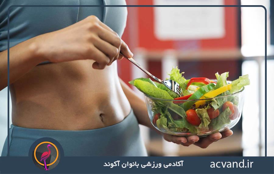 برای کاهش وزن و لاغری شکم و پهلو چه بخوریم؟