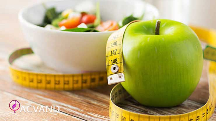 آب کردن شکم با رژیم غذایی
