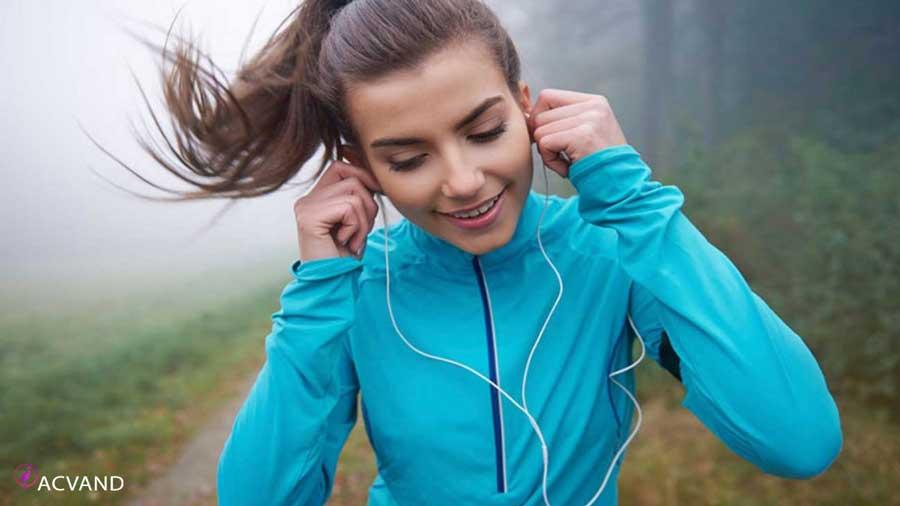 ورزش در جنگل و پیاده روی