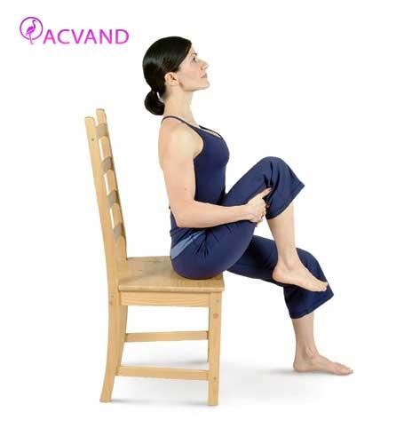 حرکت صندلی کاپیتان ورزشی برای لاغری شکم