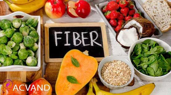 خوردن غذا های فیبر دار برای لاغری