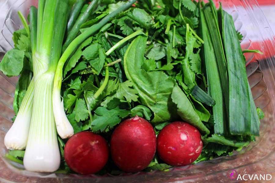 خوردن سبزیحات برای لاغری